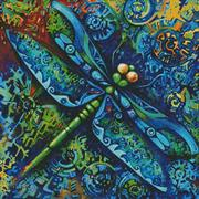 Dragonfly Painting (Kit - Chart, Fabric & Threads)