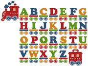 Train Alphabet (Kit - Chart, Fabric & Threads)
