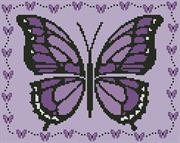 Little Purple Butterfly (Kit - Chart, Fabric & Threads)