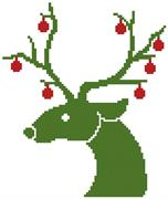 Little Christmas Reindeer (Kit - Chart, Fabric & Threads)