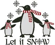 Let It Snow (Kit - Chart, Fabric & Threads)