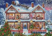 Christmas House 2 (Kit - Chart, Fabric & Threads)