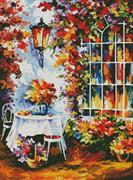 In The Garden Painting (Kit - Chart, Fabric & Threads)