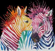 Colourful Zebras (Kit - Chart, Fabric & Threads)