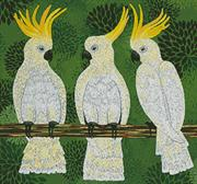 Three Cockatoos (Kit - Chart, Fabric & Threads)