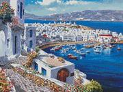 Mykonos Harbour (Kit - Chart, Fabric & Threads)