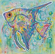 Abstract Angel Fish (Kit - Chart, Fabric & Threads)