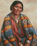 Navajo Indian Woman (Kit - Chart, Fabric & Threads)