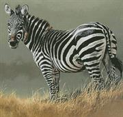 Zebra Painting (Kit - Chart, Fabric & Threads)