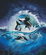 Orca Wave (Kit - Chart, Fabric & Threads)