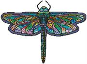 Abstract Dragonfly - Mini Version (Kit - Chart, Fabric & Threads)