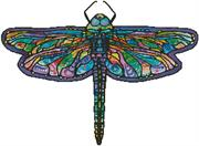 Abstract Dragonfly - No Background (Kit - Chart, Fabric & Threads)