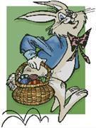 Easter Bunny And Basket (Kit - Chart, Fabric & Threads)