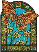 Butterfly Window (Kit - Chart, Fabric & Threads)