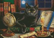 Black Cat By Candlelight (Kit - Chart, Fabric & Threads)