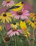 Goldfinches (Kit - Chart, Fabric & Threads)