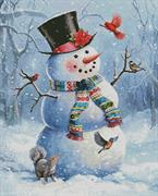 Snowman And Friends (Kit - Chart, Fabric & Threads)