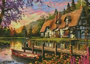 Cottage Evening Sunset (Kit - Chart, Fabric & Threads)