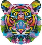 Pop Art Tiger (Kit - Chart, Fabric & Threads)