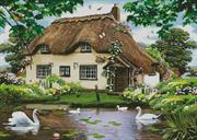 Swan Cottage (Kit - Chart, Fabric & Threads)