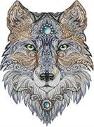 Tattoo Wolf (Kit - Chart, Fabric & Threads)