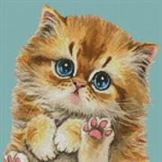 Mini Cat 114 (Kit - Chart, Fabric & Threads)
