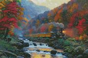 Smoky Mountain Train (Kit - Chart, Fabric & Threads)