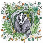 Badger (Kit - Chart, Fabric & Threads)