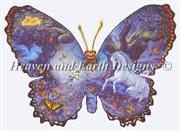 Butterfly Fantasy (Kit - Chart, Fabric & Threads) - Lugana 25Ct.