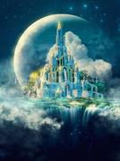 Moon Castle (Kit - Chart, Fabric & Threads) - Lugana 25Ct.