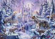 Castle Wolves (Kit - Chart, Fabric & Threads) - Lugana 25Ct.