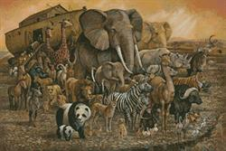 Noah's Ark Painting (Kit - Chart, Fabric & Threads)